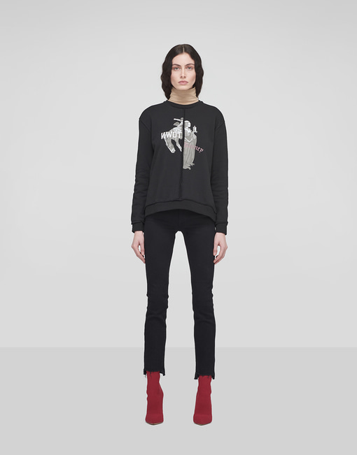 Incised Print Sweatshirt_Black
